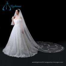 Bridal Long Cathedral Lace Appliques Soft Tulle Wedding Veil