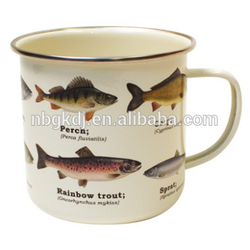 Fisch Emaille Becher Fisch Emaille Becher
