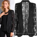 Good Quality Fashion Sexy Lace Hollow out Women Coats (50016)