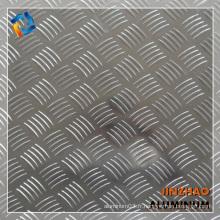 Fabricant en aluminium chinois Embosser des plaques en aluminium avec 5 grosses barres anti-glissement