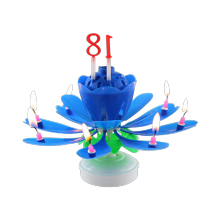 Musical Chrysanthemum Spinning candle with Number