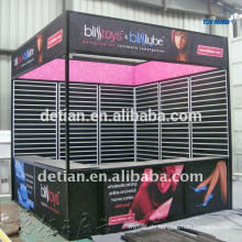 leichte modulare Messe-Ausstellungsstand 3mx6m mit Lattenwand, um Produkte zu hängen
