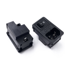 JEC three in one 3PIN JR-101-1FRSG-02 AC character power supply socket with switch and insurance cover
