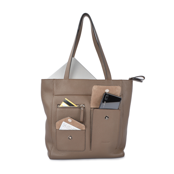 Women Shopping Genuine Leather Tote Bag Shoulder Bag