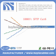 Blue 305m/1000ft Foil and Braided Cat6 Sftp Cable
