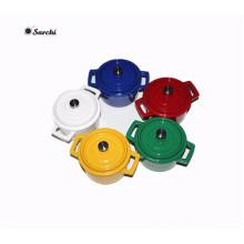 Enamel cookware mini cast iron casserole