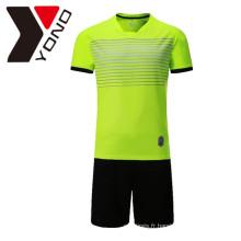 Jersey uni de football adapté aux besoins du client votre chemise de football de logo