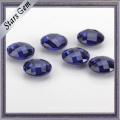 O verificador dobro redondo redondo da categoria 5mm AAA da cor azul cortou a zircônia cúbica para a jóia dourada