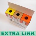 Дешевые свежий цвет CMYK напечатало пакет карандаш ящика слоения Matt ребенка