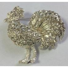 Galo elegante Animal broche com Metal