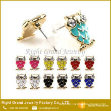 Colorful Mixed Cute Owl Ear Studs