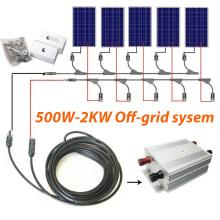 Sistema solar fuera de la red 500W a 1.5kw para el hogar