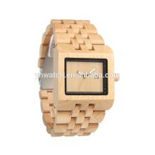 bambou sain et naturel à la main pas cher montre horloge couple montre