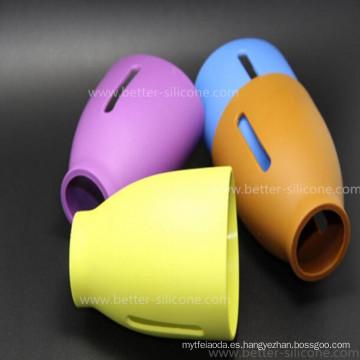 Manga de cristal de encargo libre de la botella de bebé del silicón del aislamiento de calor de BPA