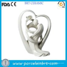 Espléndido regalo de boda de la decoración de la porcelana del corazón del amor