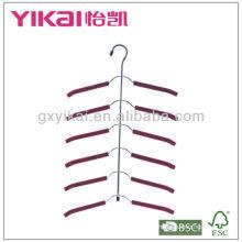 Набор из 3шт EVA пены покрытием металлических брюк вешалка с поясом стойки и 5tiers брюк бар