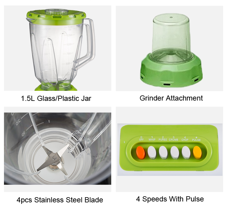 Ordinary plastic food mixer in the kitchen