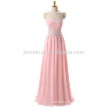 Sweetheart Lace-up Back Long Evening Dresses Special Occasion 2016 A-line Appliqued Crystals Vestidos De Fiesta Prom Dress