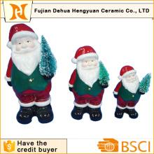 Керамический Санта Клаус с Рождественской елкой для украшения Кристам
