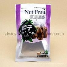 El surtidor de China y el tamaño modificado para requisitos particulares levántese la bolsa de la cremallera para las nueces / la fruta secada