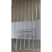 Neue Art- und Weisestreifen-Organza-bloßer Vorhang-Gewebe 201506