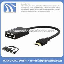 HDMI sur le câble CAT5e / CAT6 Extender étend jusqu'à 98FT HD sur le câble RJ45
