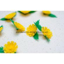 Flores de crisantemo plásticas artificiales decorativas baratas para el restaurante