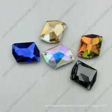 Pierres de verre coloré coudre sur le vêtement (DZ-3070)