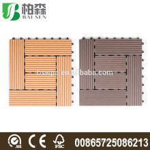 China waterproof interlocking composite decking