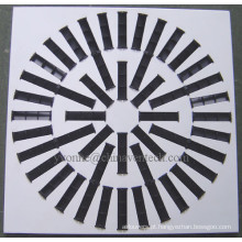 Difusor de ar quadrado do fabricante chinês, lâminas ajustáveis, difusor redemoinho