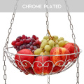 Home District 3-Tier Iron Fruit Hanging Basket Stand Countertop Food Storage Bowls Vegetable Basket