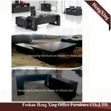 (HX-5DE3673) Black Executive Office Desk Elegant Design Modern Office Furniture