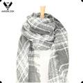 Дамы зимой акриловые края края сплетенные вязать квадратный шарф