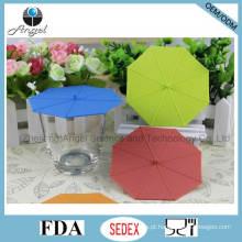 Popular Umbrella tampa do copo de chá de silicone Silicone Cup Cover SL10
