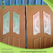 Size 3′x7′ Polyester Paper Door Skin Plywood with Poplar Core