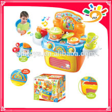 2014 new products child toy LIGHT MUSIC KITCHENWARE STORAGE BOX COOKING SET FOR FUN