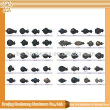 Finials modernos baratos de la cortina del metal de la alta calidad 19m m para la venta