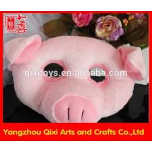 Best selling plush toy animal head mask face mask pig mask wholesale animal mask