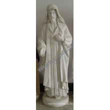 Geschnitzter Stein Carving Marmor Jesus Statue für religiöse Skulptur (SY-X1400)