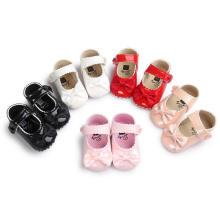 5 Цвет ПУ мягкой подошвой противоскользящие малыша обувь младенческой малыша мокасины