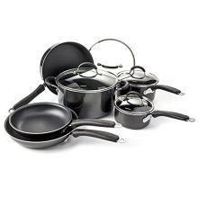 Fashion Home Basic Nonstick Cookware Set of 10 Black