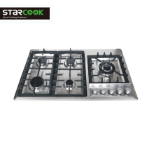 Popular 5 Burner Stainless Steel Gas Cooktops Home use