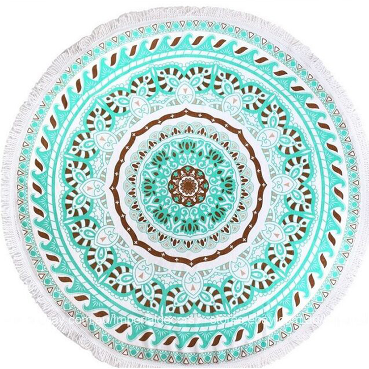 round beach towels with tassel