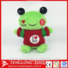 2016 new product stuffed frog toy plush frog toy