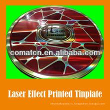Лазерный эффект печатных жести для металлической упаковки