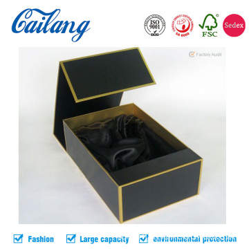 Black Luxury USB Book Shape Box dengan Foam