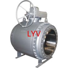 Robinet à tournant sphérique entièrement soudé d'acier inoxydable de fabricant professionnel utilisé pour l'approvisionnement en eau et le gisement de pétrole