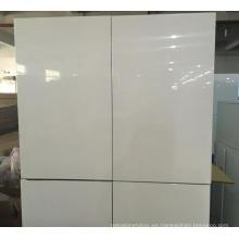 Carcasa de melamina blanca con puertas brillantes para armarios de cocina (personalizado)