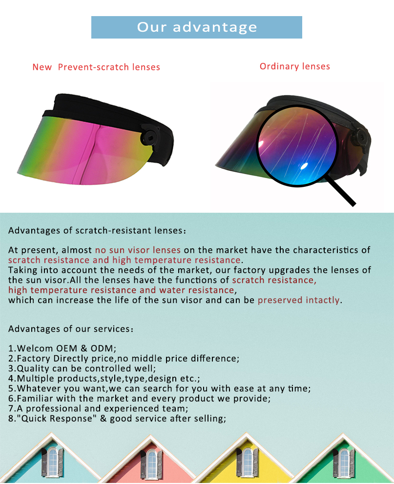 Anti Resistance Lens Pc Sun Visor Hat