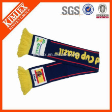 Fashion custom winter knitting fan scarf